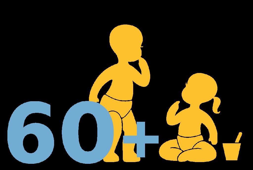 60+ children